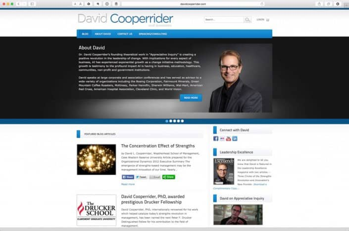 David Cooperrider Web Design Home Page
