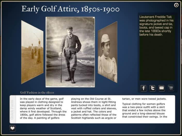 Golf History App: Large Tile Detail View
