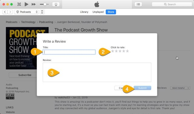 Podcast Growth Show Reviews How To Step 03-640